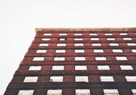 brick building from low angle