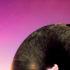 sci-fi doughnut on pink sky