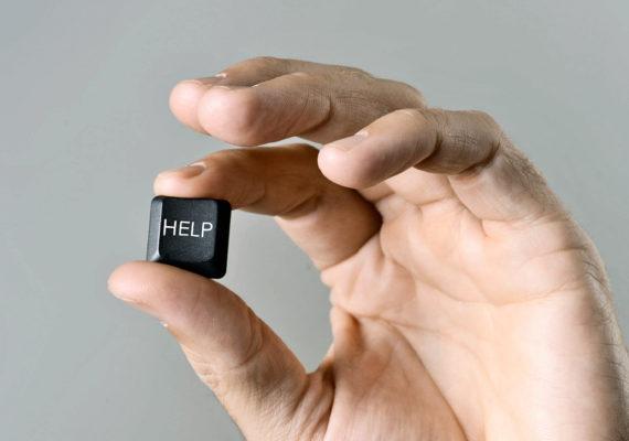 help keyboard key in hand
