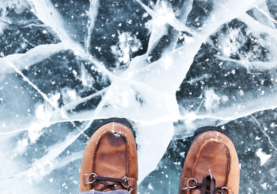 great boots on cracked ice