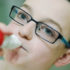boy uses an inhaler