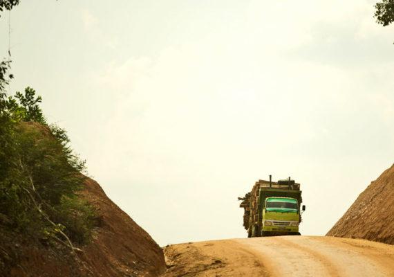 logging truck in Indonesia