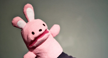 pink bunny puppet