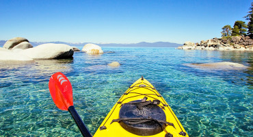 kayak on Lake Tahoe
