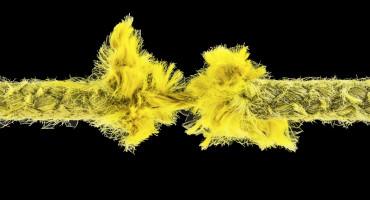 fraying yellow rope like axon disintegration
