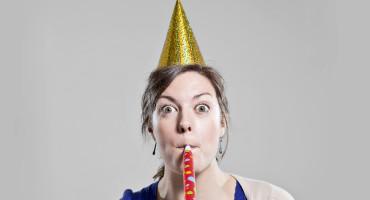 woman celebrating (herself?)