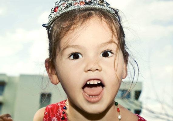 little girl shouting