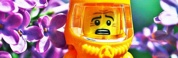LEGO man in hazmat suit