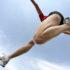long jump athlete's knee