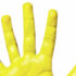 yellow paint on fingers