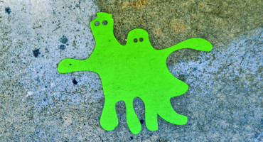 green amoeba sticker