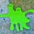 green amoeba sticker