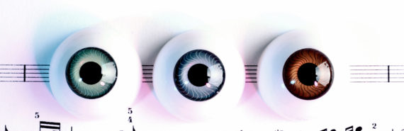 eyeballs on sheet music