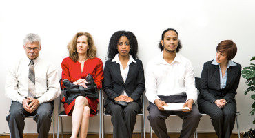 job seekers in a row
