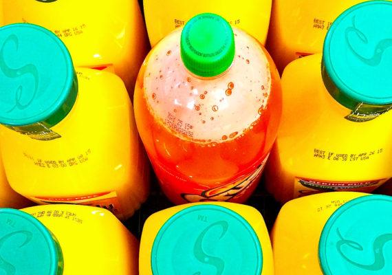 orange juice and orange soda