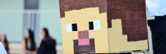 Minecraft head costume