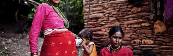 pregnant woman & family in Nepal