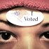 I voted sticker on forehead