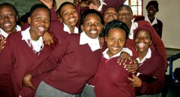 high schoolers in Botswana