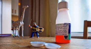 antibiotics & toys on table
