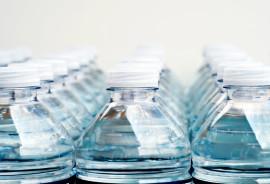 bottled water on white