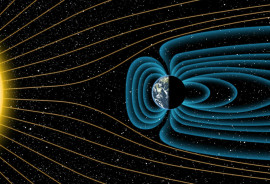 illustration of Earth's magnetic field