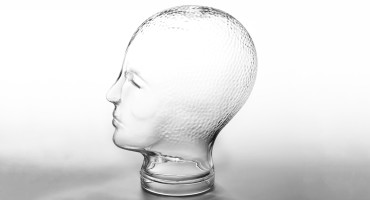 glass head on white