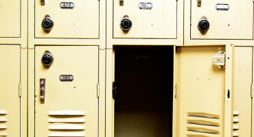 one open locker