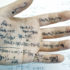 math formulas on the palm of a hand