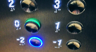 negative numbers elevator buttons
