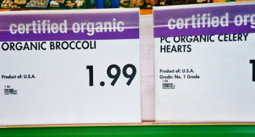 organic price tags in store