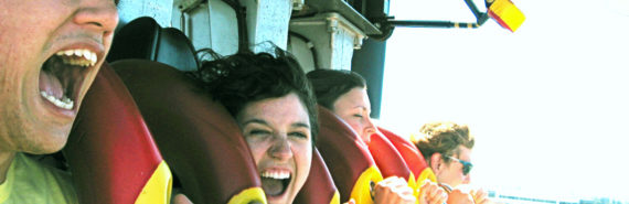 people screaming on a ride