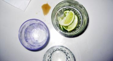 empty shot glasses