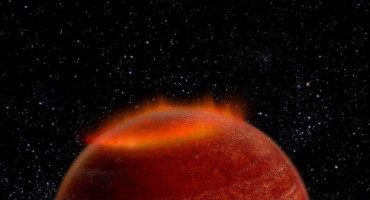 brown dwarf star and auroral display