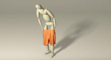 animated character pulls up shorts