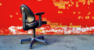 empty desk chair