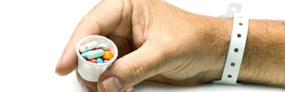 hospital pills and bracelet