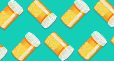 illustration of pill bottles