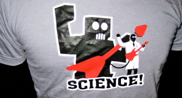 robot scientist t-shirt