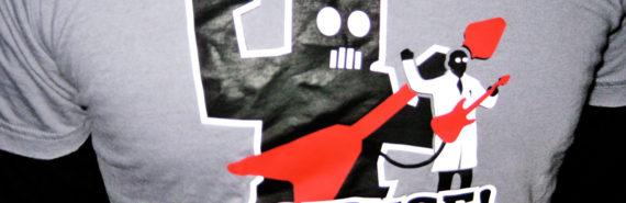 robot scientist t-shirt