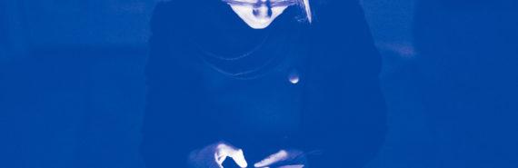woman using smartphone in dark
