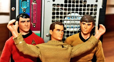 star trek dolls and computer