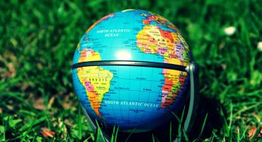 tiny globe in grass
