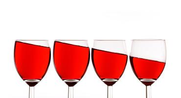 4 glasses of wine
