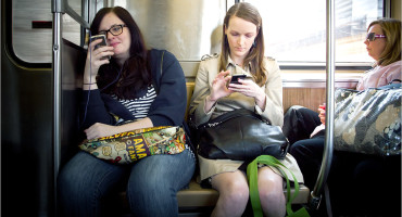 women on a train