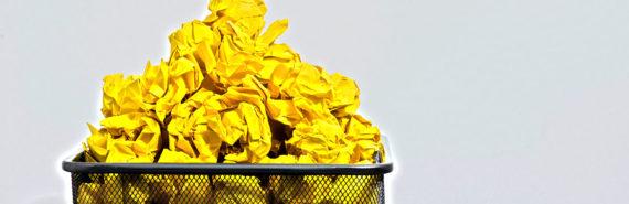 full waste paper basket