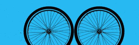 photo-illustration of bike wheels
