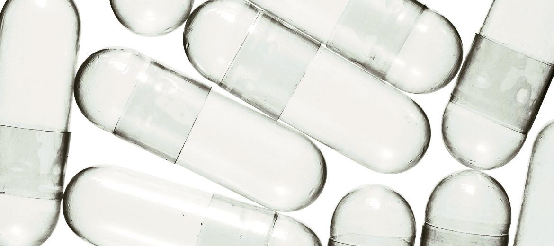 transparent capsules