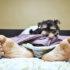 puppy pulls sheets