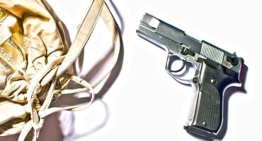 handgun and purse
